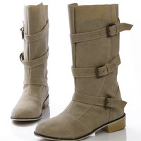 falt over knee boots riding  snow warm botas  masculina boot flock footwear quality shoes P20556 size 34-43