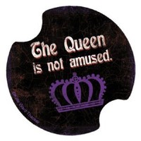 Thirstystone Queen is not amused Car Cup Holder Coaster, 2-Pack