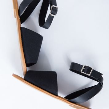 Buckled Peep Toe Sandals