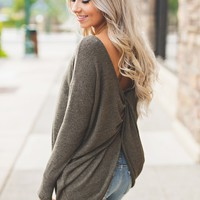 Lavelle Knot Top (Olive)
