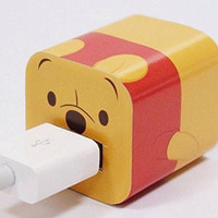 Disney Iphone Charger USB Skin Sticker Wrap -Sticker Only Not Include Charger (Winnie the Pooh)
