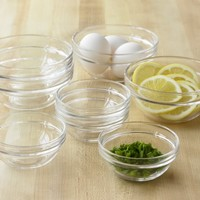 Glass Prep Bowls, Set of 8