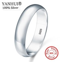 Hot Sale! 100% Natural Solid 925 Sterling Silver Wedding Band Ring Fine Jewelry Lover Engagement Gift Rings For Women Men R027