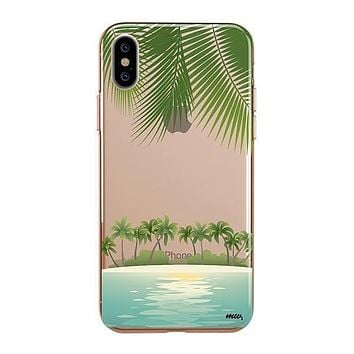Tropical Beach - iPhone Clear Case