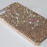 Iphone 5, 5s, 5c case w Swarovski Elements. Crystal Bling 12ss Crystal GOLDEN SHADOW
