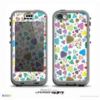 The Bright-Colored Knit Pattern on White Skin for the iPhone 5c nüüd LifeProof Case