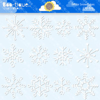 White Snowflakes Digital Clipart. Snow Clip Art for Instant Download. Christmas Clipart. Xmas Clip Art. Winter Clipart. Snow