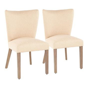Addison Fabric Dining Chair Brown- Set of 2
