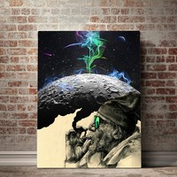 Smoke and Moon Vertical Canvas Set