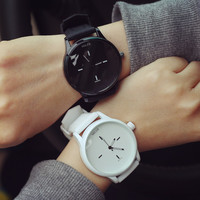 High Quality Fashion Brand Soft Silicone Strap Jelly Quartz Watch Wristwatches for Women Ladies Lovers Black White