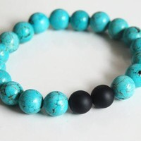Great Deal Awesome Gift Shiny New Arrival Hot Sale Stylish Accessory Turquoise Yoga Bracelet [6464862209]