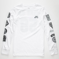Nike Sb Patches Boys T-Shirt White  In Sizes