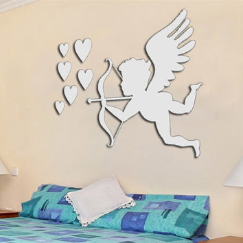 Korean Wall Sticker Home Accessory Stylish Mirror [6044836865]