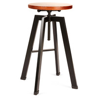 Adjustable Industrial Spin Stool, Black