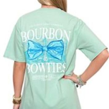 Southern Shirt Company Bourbon and Bow Ties T-Shirt in Herbal Mist