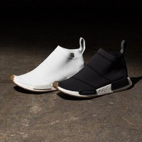 Sale Adidas NMD Mid City Sock Black / White Boost Sport Running Shoes Classic Casual Shoes Sneakers