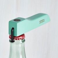Pastel Innovative Enjoyment Bottle Opener in Aqua by ModCloth