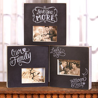 Photo Frame Wood Box Sentiment Family Love Memories Shadowbox Stand or Hang NEW