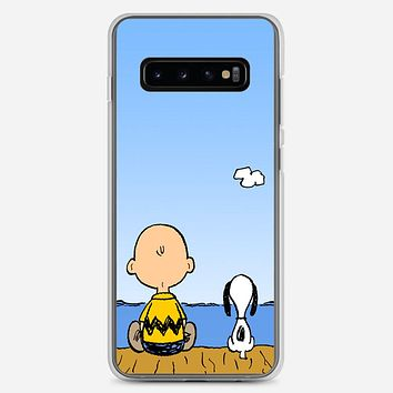 Snoopy And Charlie Brown Samsung Galaxy S10 Plus Case