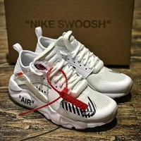 OFF WHITE x Nike Air Huarache Ultra OW White Sport Running Shoes - Best Online Sale