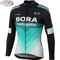 BORA 2018 Pro Team Cycling Jersey Winter Thermal Fleece Bicycle Cycling Jersey Jackets Warm Moutain Bike Clothing Jacket