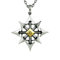 Chaos Star Necklace Nautical Pirate Punk Pendant