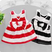 2pc Toddler Baby Girl Infant Outfit Bow Flower Tank Top+Skirt Dress Kids Clothes