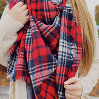 Americana Style Blanket Scarf