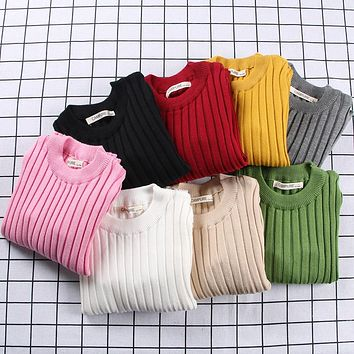 Baby Boy Clothes Children Clothing Boys Girls Knitted Sweater Kids Spring Autumn Cotton Christmas Sweater Pullover 1-6Y