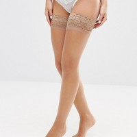 Bluebella Lace Topped Hold Ups at asos.com