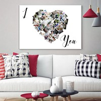 I Love You Family Photo Print Wall Art Canvas Family Collage Custom Pictures Collage