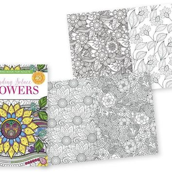 Papercraft Adult Coloring Books - Flowers Case Pack 24