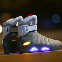 cosplay boots back to the future led light shoes air mag style property usa fashion high boots USB charge
