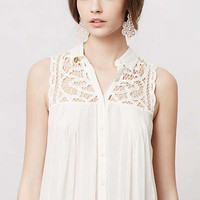 Anthropologie - Laced & Ruched Tunic