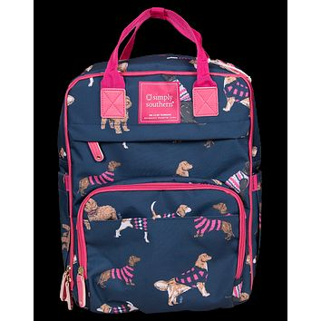 Simply Southern Preppy Classic Dogs Backpack Bag