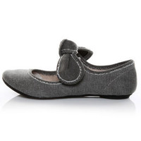 Big Buddha Baily Black Denim Mary Jane Flats - $39.00