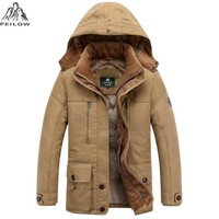 Trendy PEILOW new winter jacket men Brand Warm Thicken Coats Quality Middle age mens Cotton-Padded Elegant Business Multi Pocket Parkas AT_94_13