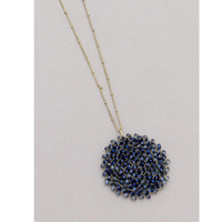 Beaded Long Pendant Necklace