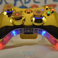 Xbox 360 Custom Controller Full Set of LED Bullet Buttons with LED Trim