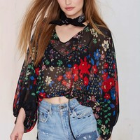 After Party Vintage Jessa Chiffon Peasant Blouse