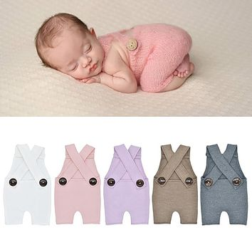 Newborn Infant Baby Knit Photography Rompers Clothes Photo Studio Costume Props
