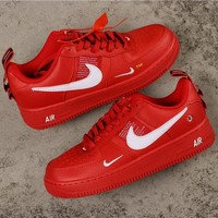 Nike Air Force 1 07 Lv8 Overbranding Red/ White Shoes - Best Online Sale