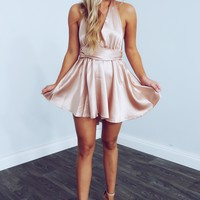 My Time To Shine Dress: Pink Champagne