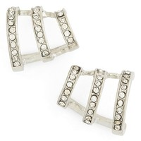 Women's Topshop Rhinestone Earrings - Silver Multi