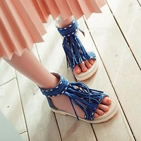 Tassel-Flats-Sandals-Women-Shoes 3338