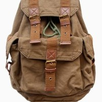 Gootium 21101AMG-S Specially High Density Thick Canvas Backpack Rucksack,Army Green Small