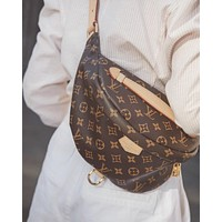 elainse29 Louis Vuitton Women Leather Purse Waist Bag Single-Shoulder Bag