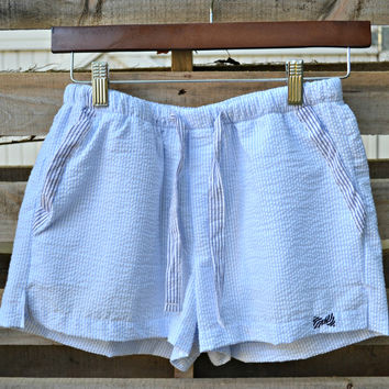 FRATERNITY COLLECTION: Lounge Shorts - Baby Blue/Navy