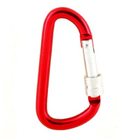 Portable Outdoor Camping Hiking Aluminum Carabiner Keychain with Lock