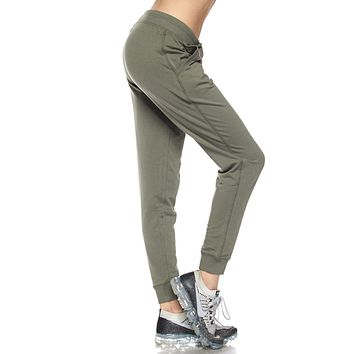 Active French Terry Jogger Pants With Pockets